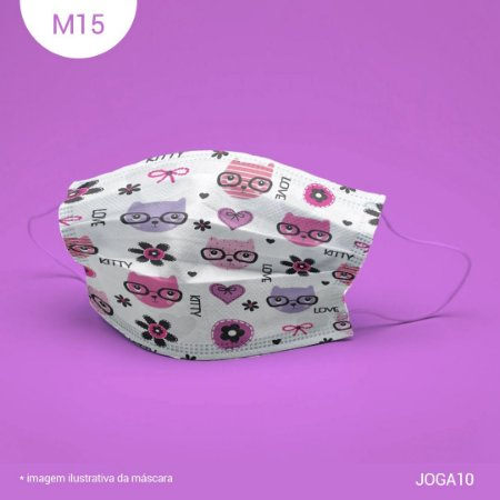 Máscara de Tecido| 2 camadas de proteção | Ajuste no nariz | M15