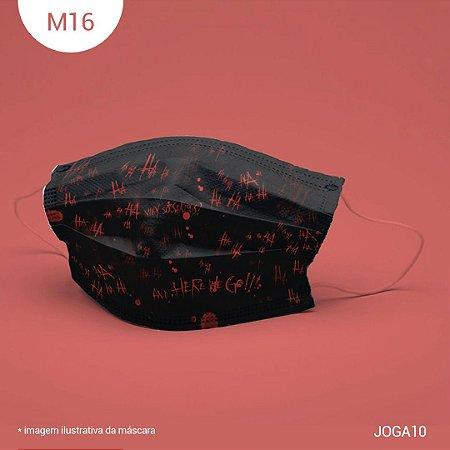Máscara de Tecido| 2 camadas de proteção | Ajuste no nariz | M16
