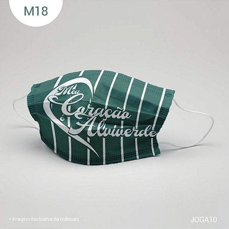Máscara de Tecido| 2 camadas de proteção | Ajuste no nariz | M18