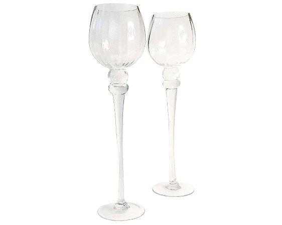 Castiçal de vidro Royal - 2 peças