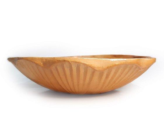 Vaso Cerâmica Terracota Lotus