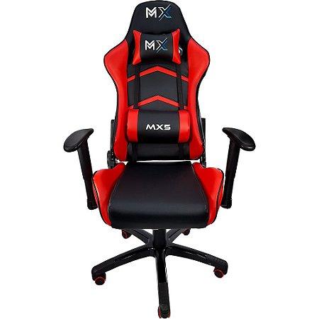 Cadeira Gamer MX5 Giratoria Vermelha - Mymax
