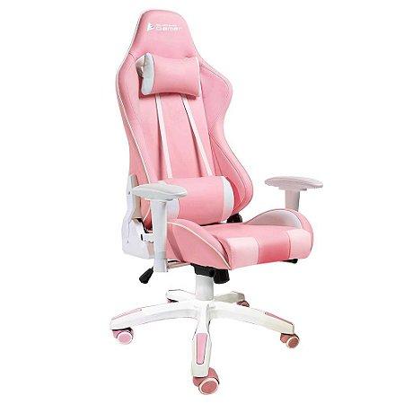 Cadeira Gamer Bluecase Titanium, Pink/White