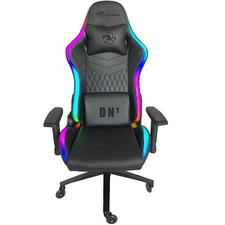 Cadeira Gamer DN1 RGB Preto Rodas de Silicone - DRAXEN