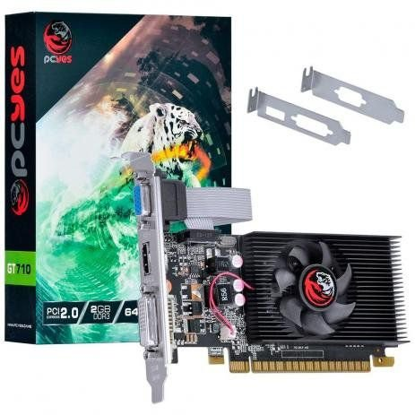 Placa de Vídeo GeForce GT 710 NVIDIA 2GB DDR3 64 Bits PcYes