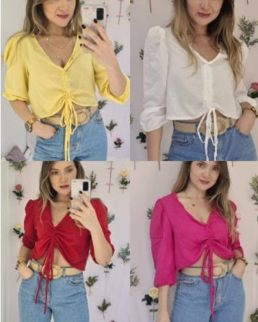 Cropped viscose Thassia