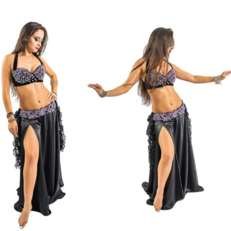 [Encomenda 30 Dias] Dança do Ventre Traje Completo Ricamente Bordado