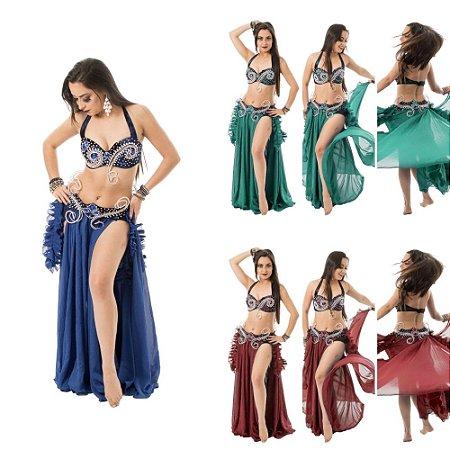 [Encomenda 45 Dias] Traje Plus Size Dança do Ventre Brilho