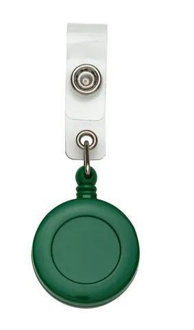 Roller Clip Porta Crachá Retrátil Tipo Iôiô Pacote com 25 Unidades Verde Leitoso