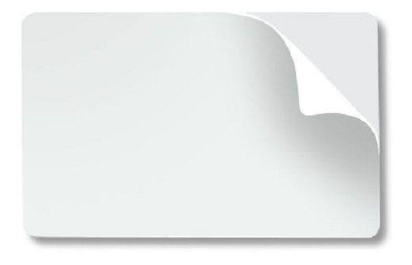 Cartão Branco Adesivado Pacote com 100 Cartões Espessura 0,46mm