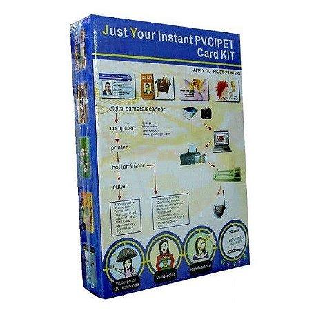Placa de Pvc A4 Para Impressão Jato de Tinta 50 Jogos