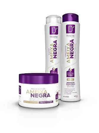 Kit D'oura Hair AMEIXA NEGRA - NUTRIÇÃO INTENSA - Sham + Cond + Másc Capilar