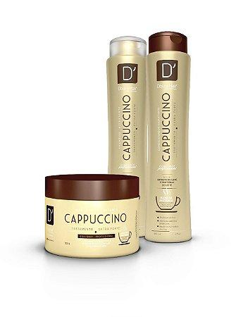 Kit D'oura Hair CAPPUCCINO - TRATAMENTO EXTRA FORTE - Sham + Cond + Másc Capilar