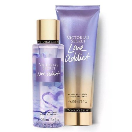 KIT - Love Addict - Body Splash 250 ml + Body Lotion 236 ml - Victoria's Secret - ORIGINAL