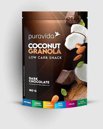 COCONUT GRANOLA DARK CHOCOLATE 180G - PURAVIDA