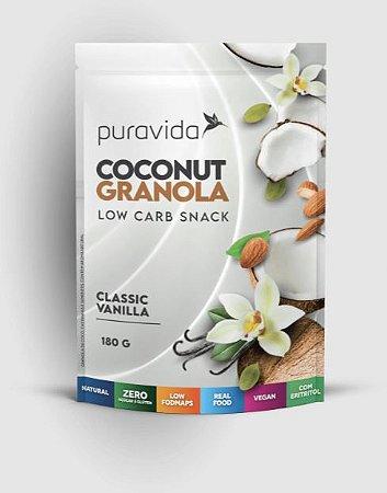 COCONUT GRANOLA CLASSIC VANILLA 180G - PURAVIDA