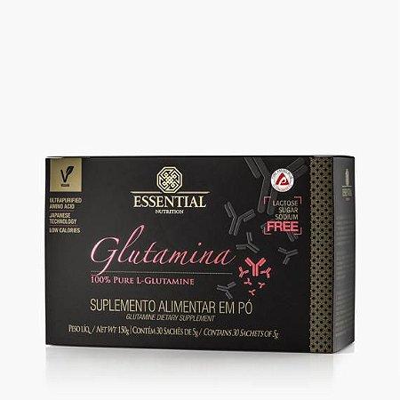 GLUTAMINA BOX 150g ESSENTIAL - Box c/ 30 sachês de 5g 100% Pura L-Glutamina