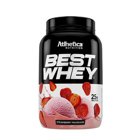 BEST WHEY STRAWBERRY MILKSHAKE 900G - ATLHETICA