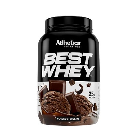 BEST WHEY DOUBLE CHOCOLATE 900G - ATLHETICA