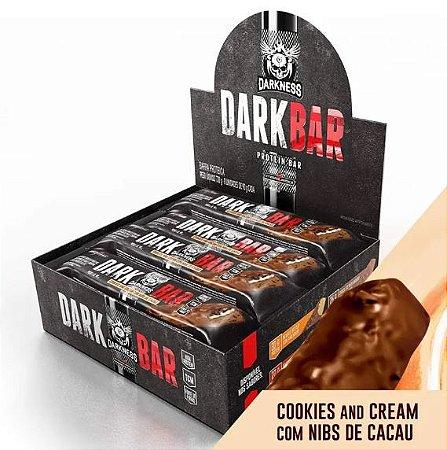 DARK BAR PROTEIN COOKIES AND CREAM C/ NIBS DE CACAU 24G DE PROTEÍNA (9 UNIDADES) - INTEGRAL MÉDICA