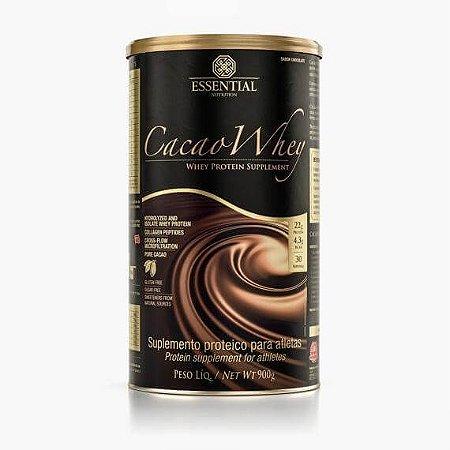 CACAO WHEY 900g | 30 doses Whey Protein Hidrolisado e Isolado com Cacau Gourmet - ESSENTIAL