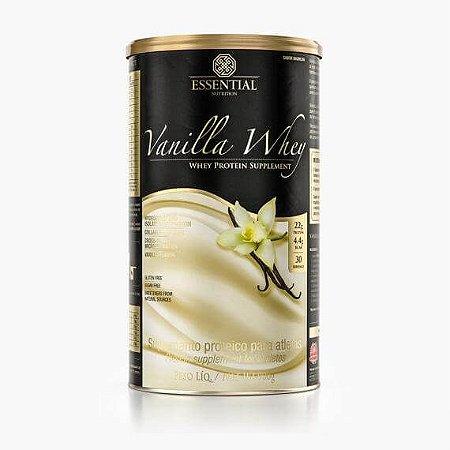 VANILLA WHEY 900g | 30 doses Whey Protein Hidrolisado e Isolado com Cacau Gourmet - ESSENTIAL