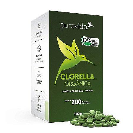CLORELLA ORGÂNICA - CLORELLA ORGÂNICA 200 TABLETES DE 500MG - PURAVIDA