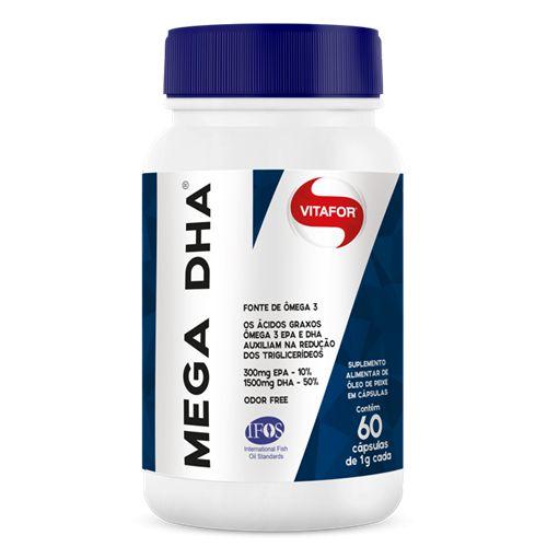 MEGA DHA 1G 60 CAPS - VITAFOR