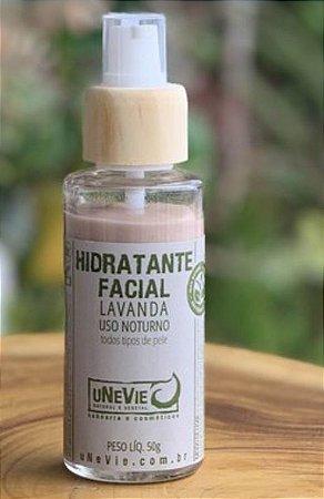 Hidratante facial noturno Lavanda