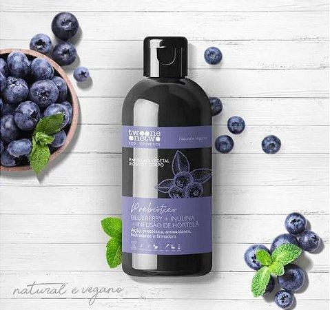 Emulsão Vegetal Blueberry + inulina + hortelã