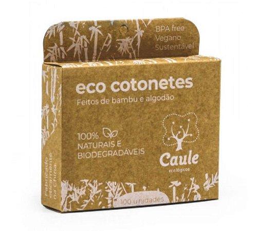 Eco Cotonete com Hastes de Bambu e Algodão 100 unidades