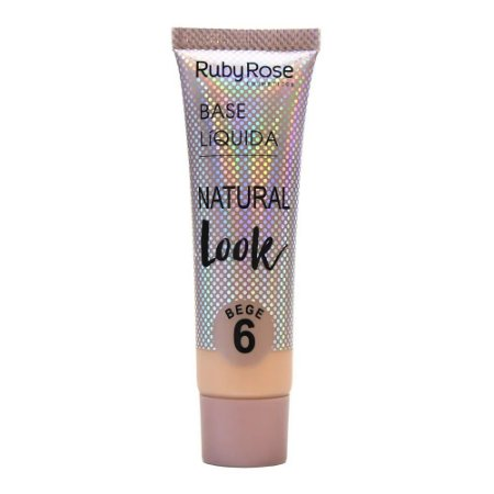 BASE LÍQUIDA NATURAL LOOK BEGE RUBY ROSE - BEGE 6