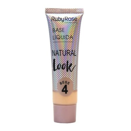 BASE LÍQUIDA NATURAL LOOK BEGE RUBY ROSE - BEGE 4