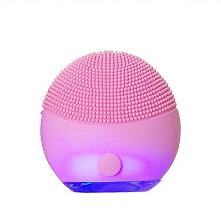 Esponja Para Limpeza Facial e Massageador Elétrico - Rosa