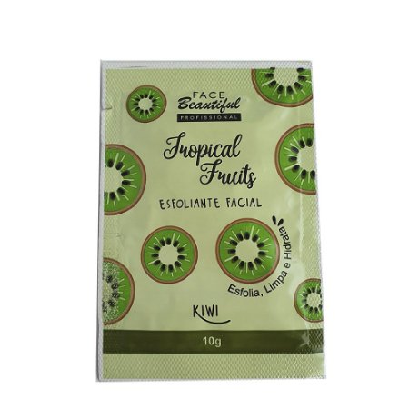 Esfoliante Facial Kiwi Tropical Fruits Com 5 Saches Face Beautiful cód. FB187