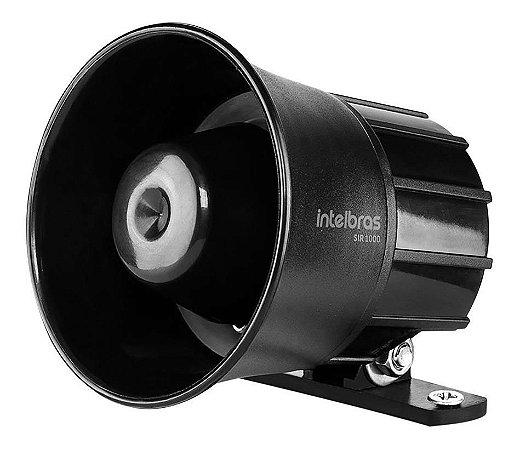 Sirene Com Fio Intelbras 105 Db Sir 1000 Preta Alta Potência