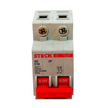 Disjuntor Serie SD62 32A 2P Curva C Steck