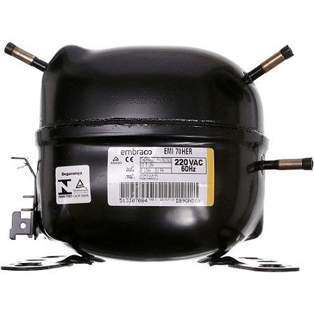 Compressor Embraco 1/5 HP R134A 220V 60HZ EMI 70HER