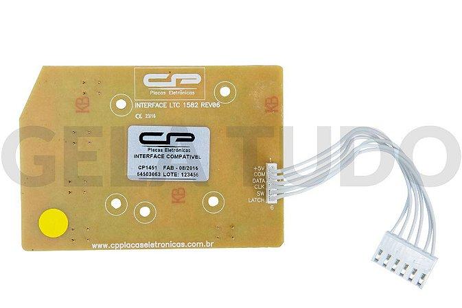 PLACA INTERFACE ELET COMPATIVEL LTC10/LT12F/15F/LTD09/LTD11/LTD13/LTD15 LED AZUL BIV V2 (CP1451)