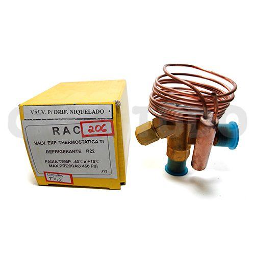 Valvula Expansao R22 Equal Interna TI Rosca Rac