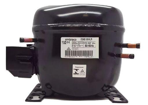 COMPRESSOR  EMBRACO 1/4+ R134 110V EGAS80HLR