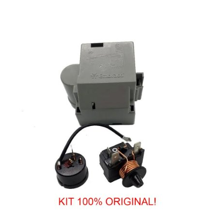 Rele e Protetor Termico Embraco 1/3+ FFU 130HAX/AX 115-127V/60Hz-com Caixa