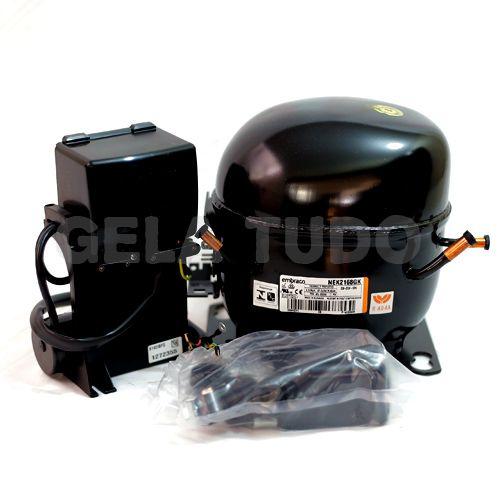 Compressor Embraco Aspera 3/4 HP R404A 220V 60HZ NEK2168GK