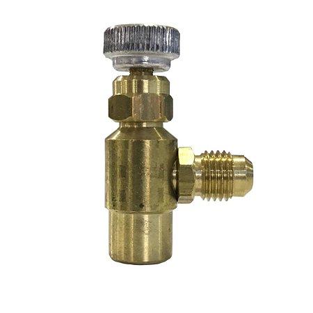 Válvula Acionadora com Manopla Lata R22 134a 401a R600 R410a