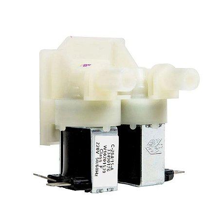Válvula Dupla 220V para Máquina de Lavar - W10201539