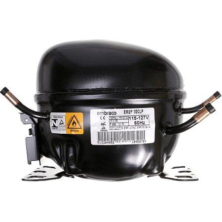 Compressor Embraco 1/5 HP R600 110V 60HZ EM2P70CLP