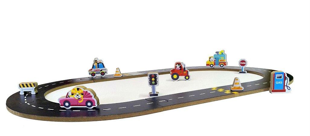 Brinquedo e embalagem Pista Carros