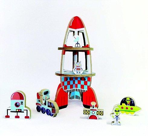 Brinquedo e embalagem Foguete