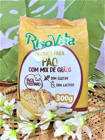 Mistura para pão com mix de grãos RisoVita 300g