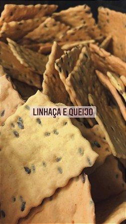 Lasquinhas de linhaça, azeite e queijo 100g